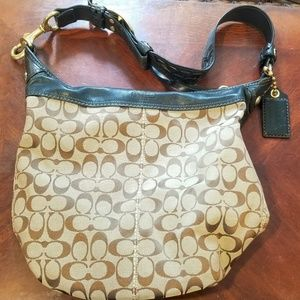 Authentic Coach Bleeker Signature Bucket Bag